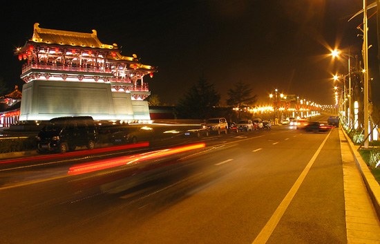 xian picture of the beautiful night