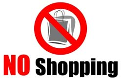 Image result for no shopping